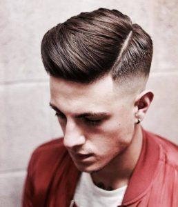 Kiểu tóc side part 3/7 nam mặt dài